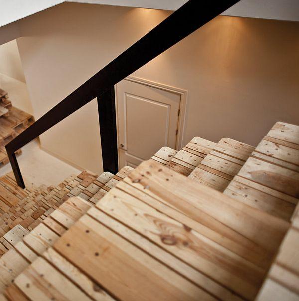 Лестница из поддонов своими руками