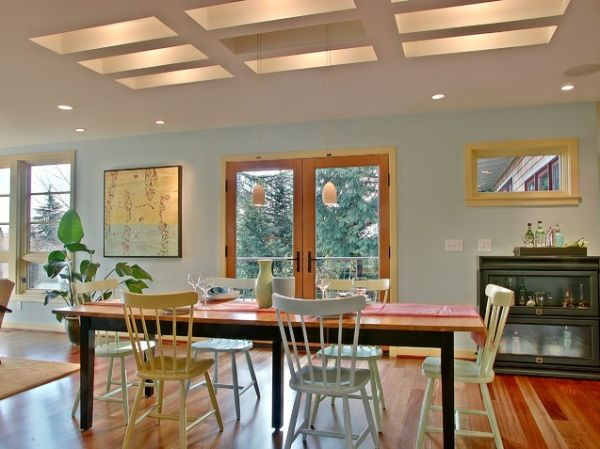 Прекрасное оформление интерьера помещения в пастельных тонах