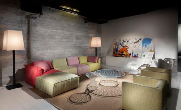 Восхитительное оформление интерьера помещения в пастельных тонах