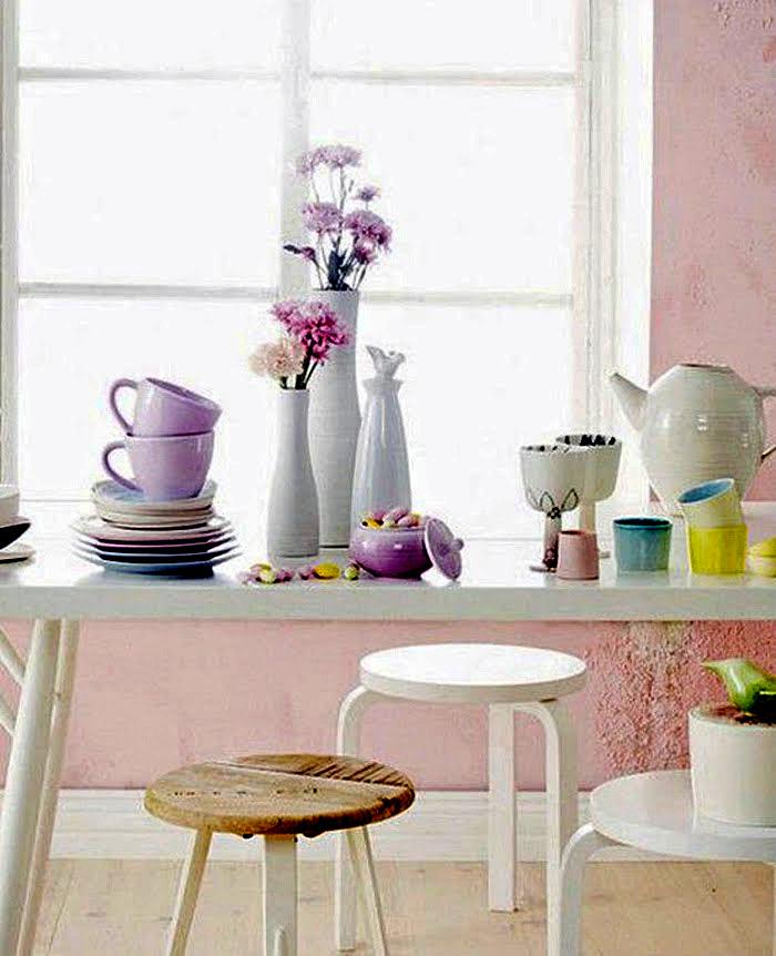 Красивая посуда и сервиз в интерьере