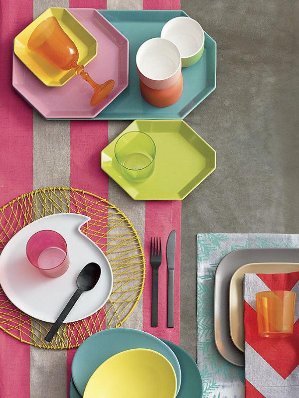 Великолепные декоративные тарелки в пастельных тонах