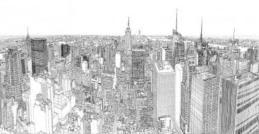 Патрик Вейл: виды Нью-Йорка в графике и покадровой съёмке