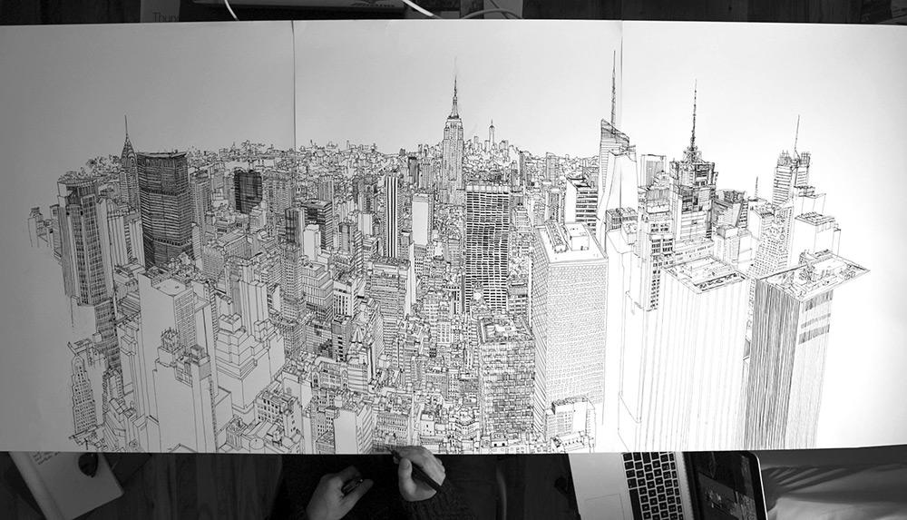 Покадровая съёмка от Патрика Вейла: виды Нью-Йорка