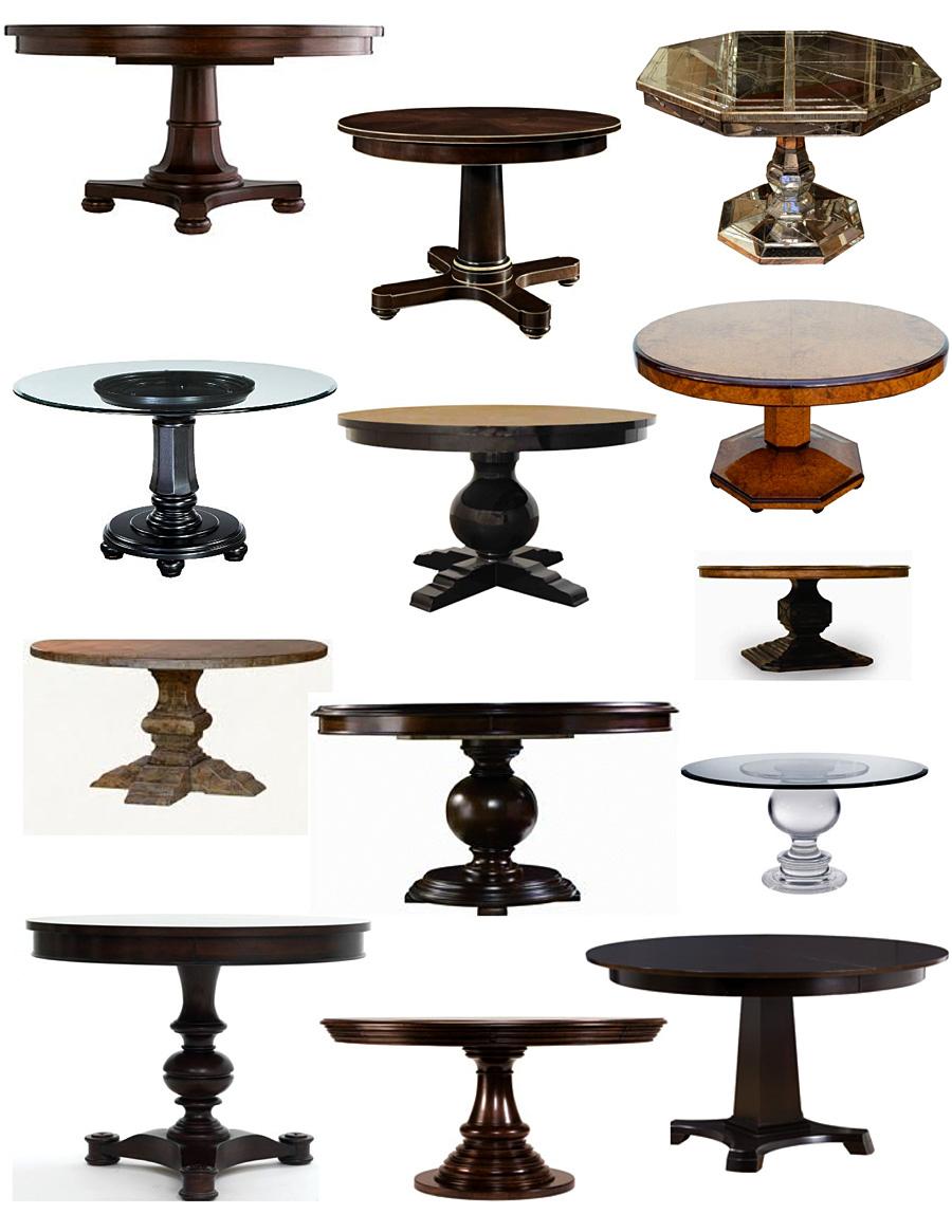 Множество вариантов столов на подножке