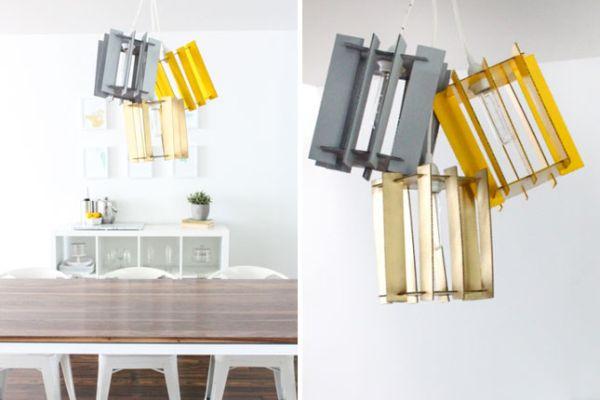 Подвесные светильники из картона