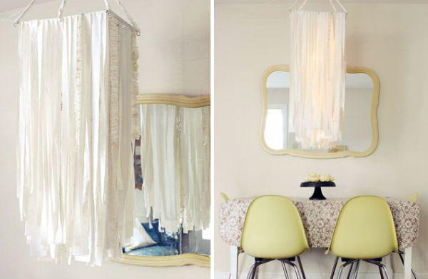 Подвесной светильник из ткани