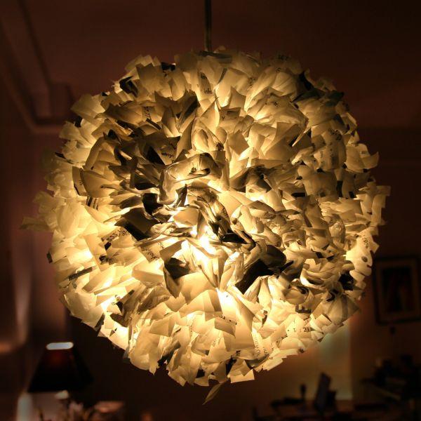 Светильник из качественных пластиковых пакетов