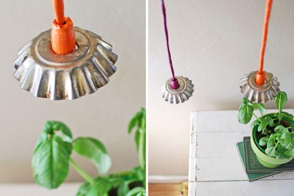 Светильники из формочек для выпечки