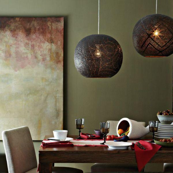 Перфорированные подвесные плафоны в столовой