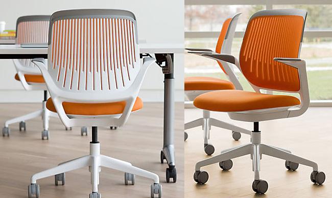 Кресла с оранжевой основой