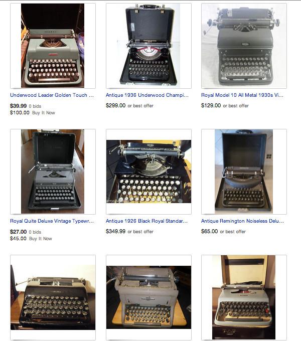 Разнообразие печатных машинок