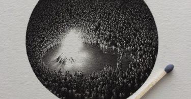 Идея света в интерпретации Матео Писарро: крошечные рисунки карандашом