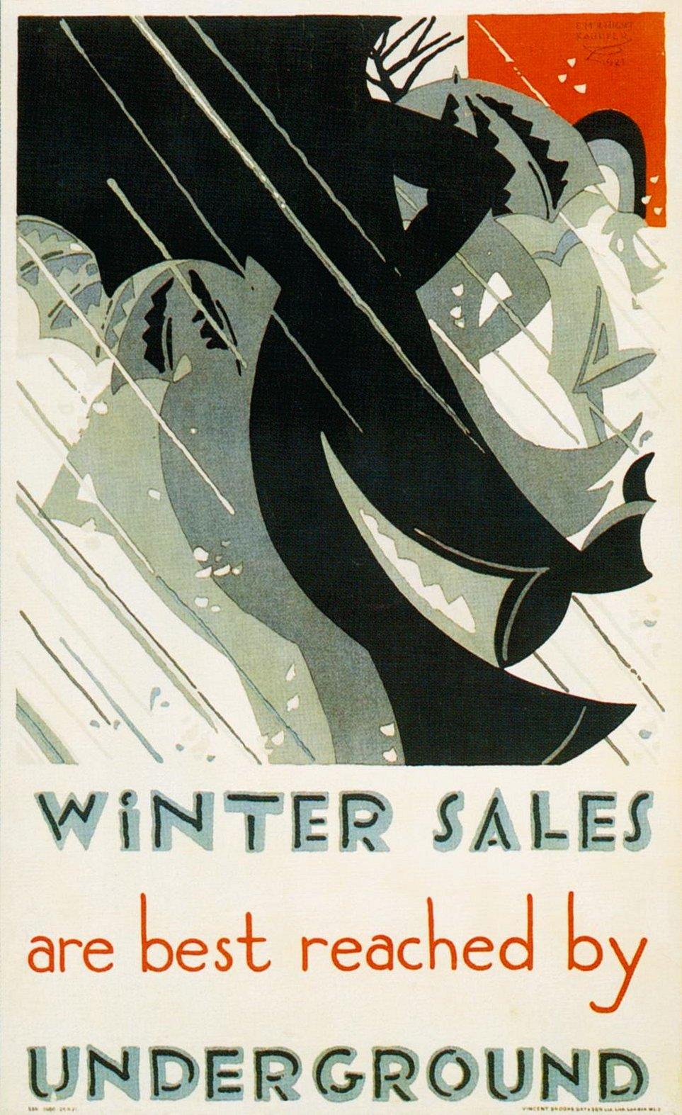 Зимние плакаты для метро Эдварда Кауфера
