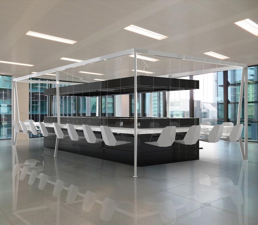 Система со стульями-качелями белого цвета