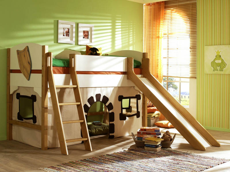 Игровая кровать чердак домик