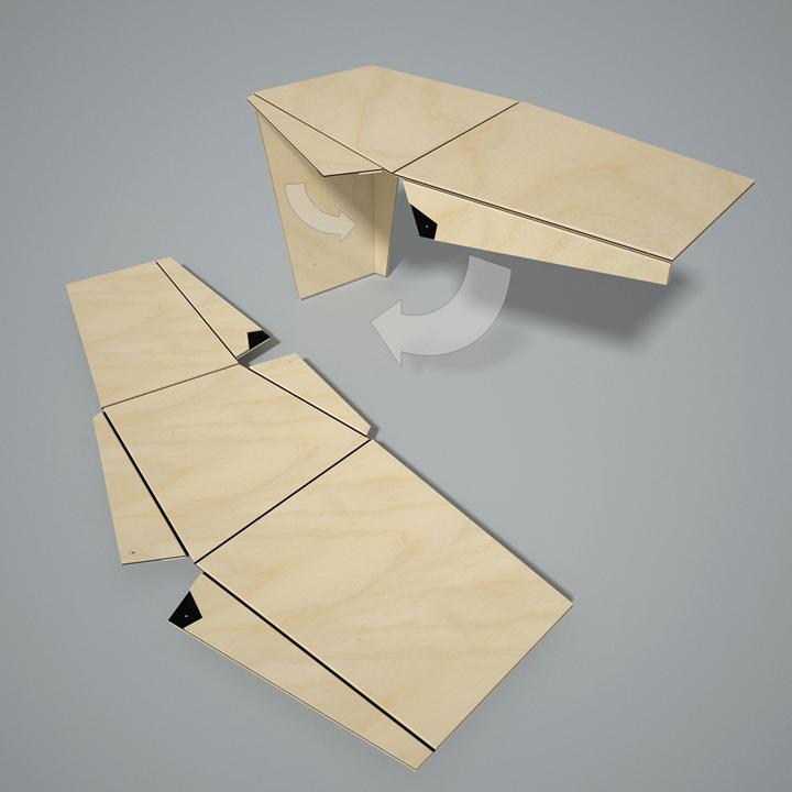 Части дизайнерской мебели Plié collection