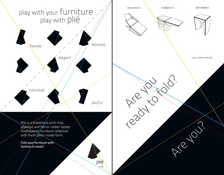 Схема дизайнерской мебели Plié collection