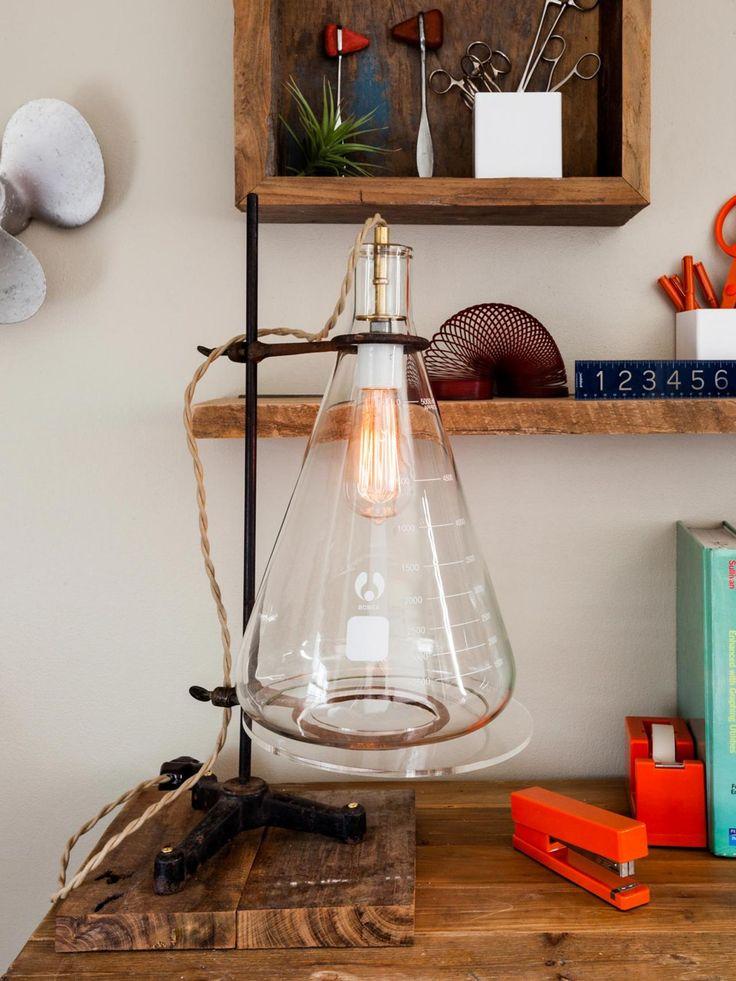 Светильник в промышленном стиле с пробирками