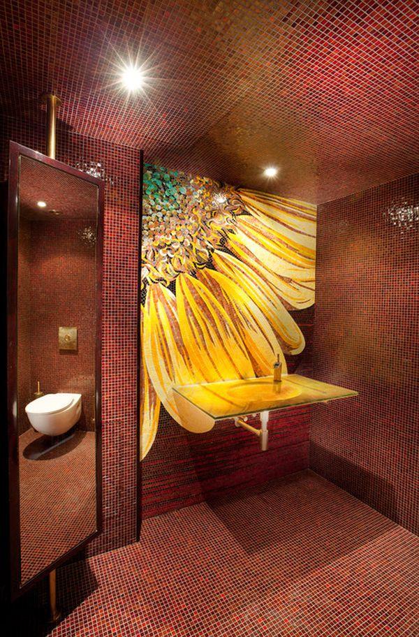 Настенный рисунок в интерьере помещения
