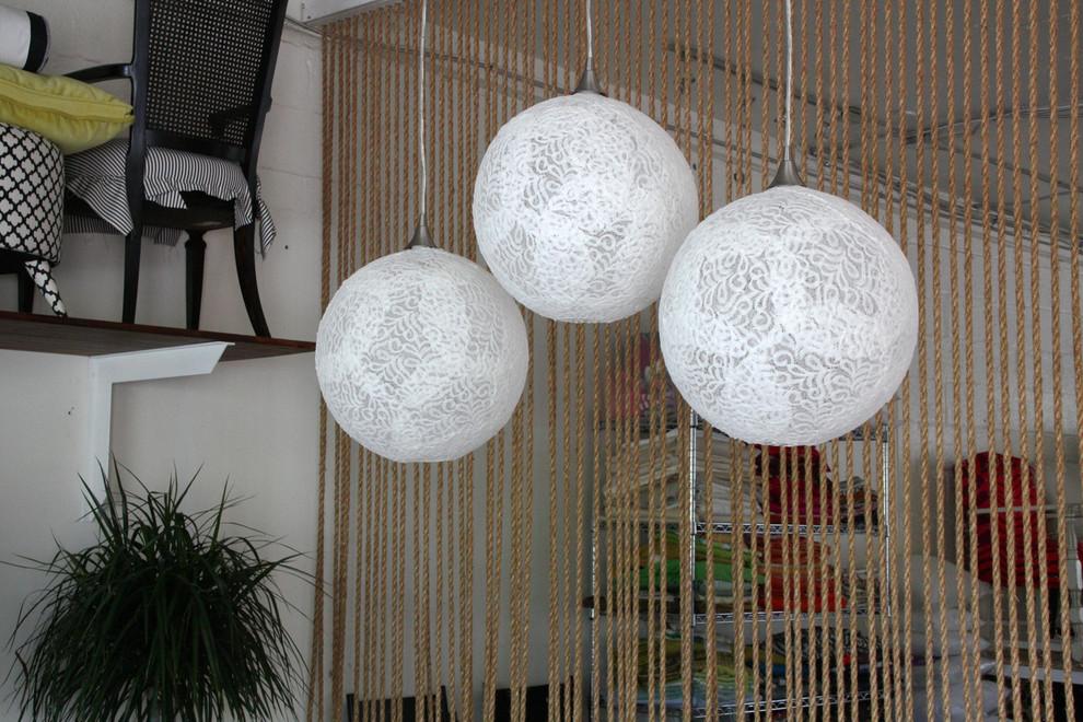Креативные подвесные люстры своими руками в готовом виде