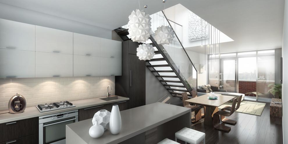 Великолепный подвесной светильник в интерьере кухни