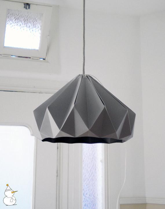 Восхитительный подвесной светильник в виде оригами