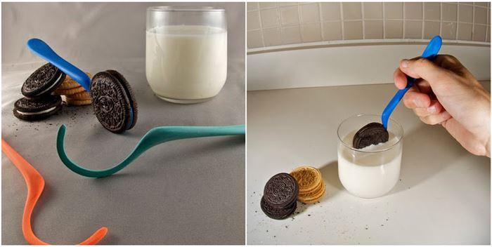 Полезные гаджеты: Ложка для макания печенья в молоко