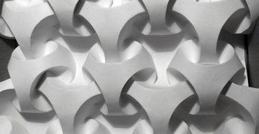 Полли Верити: восхитительные трёхмерные узоры из неразрывно соединённых кусочков бумаги