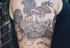 Татуировки от американской художницы Пони Рейнхардт
