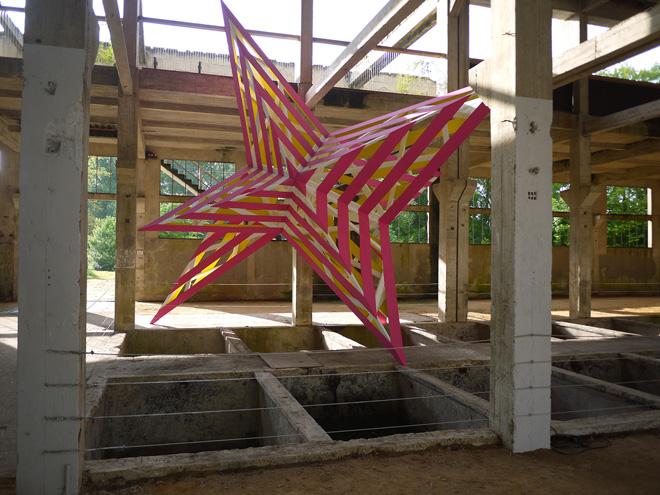Инсталяция - Трехмерная звезда на бывшем кожевенном заводе