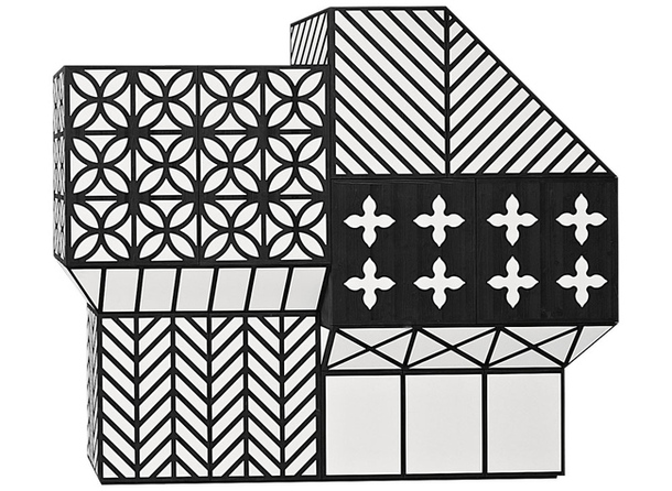 Шкаф с чёрно-белым рисунком