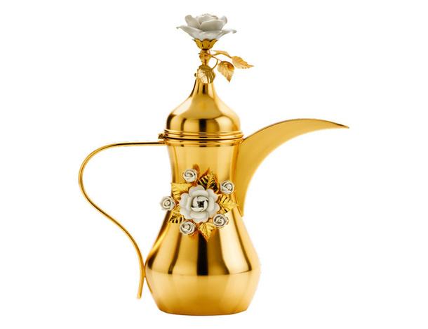 Фарфорово-золотой кофейник