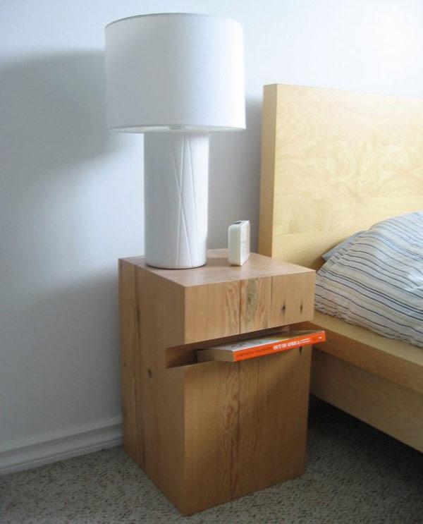 Шикарная прикроватная тумбочка в интерьере спальни
