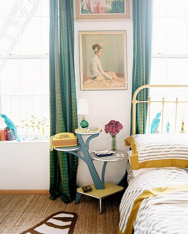 Чудная прикроватная тумбочка в интерьере спальни