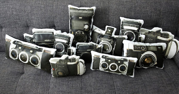 Original photo cushions from Vintage Amica Eyelux - add a bit of fashion to your interior