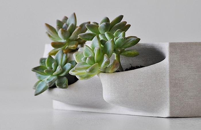 Contenedores inusuales para plantas ornamentales del estudio de diseño Real San Fratello Architects