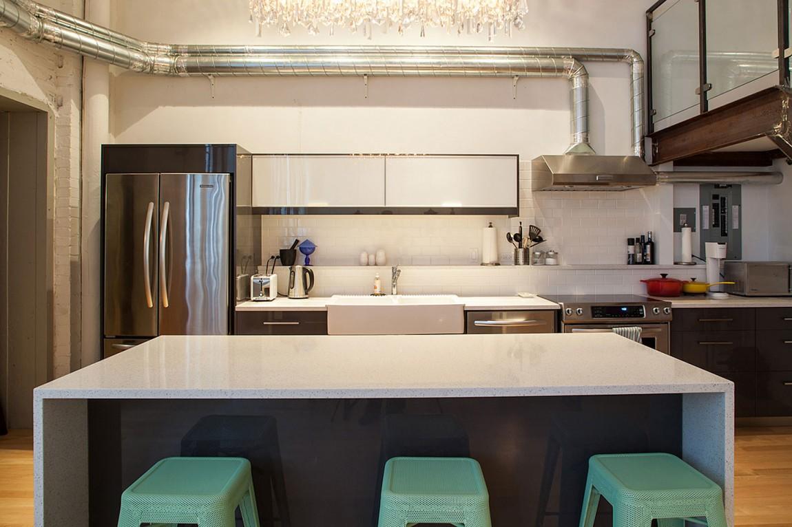 Дизайн кухонной зоны в доме в Торонто