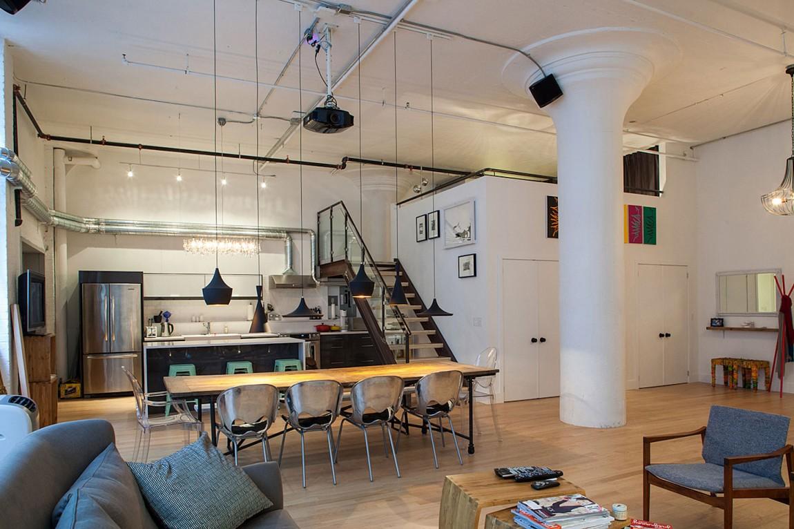 Красивый дизайн интерьера дома в Торонто