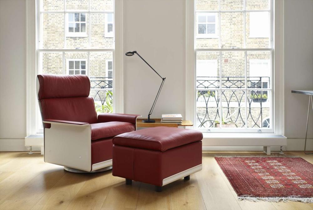 Кожаный стул и пуф по проекту Дитера Рамса