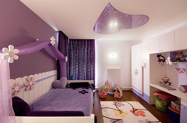 Детская комната с применением фиолетового цвета