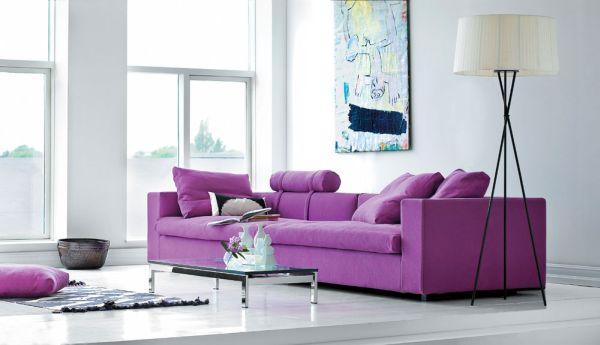 Фиолетовое оформление интерьера