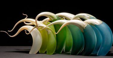 Рик Эггерт: имитация движения в изящных стеклянных арт-объектах