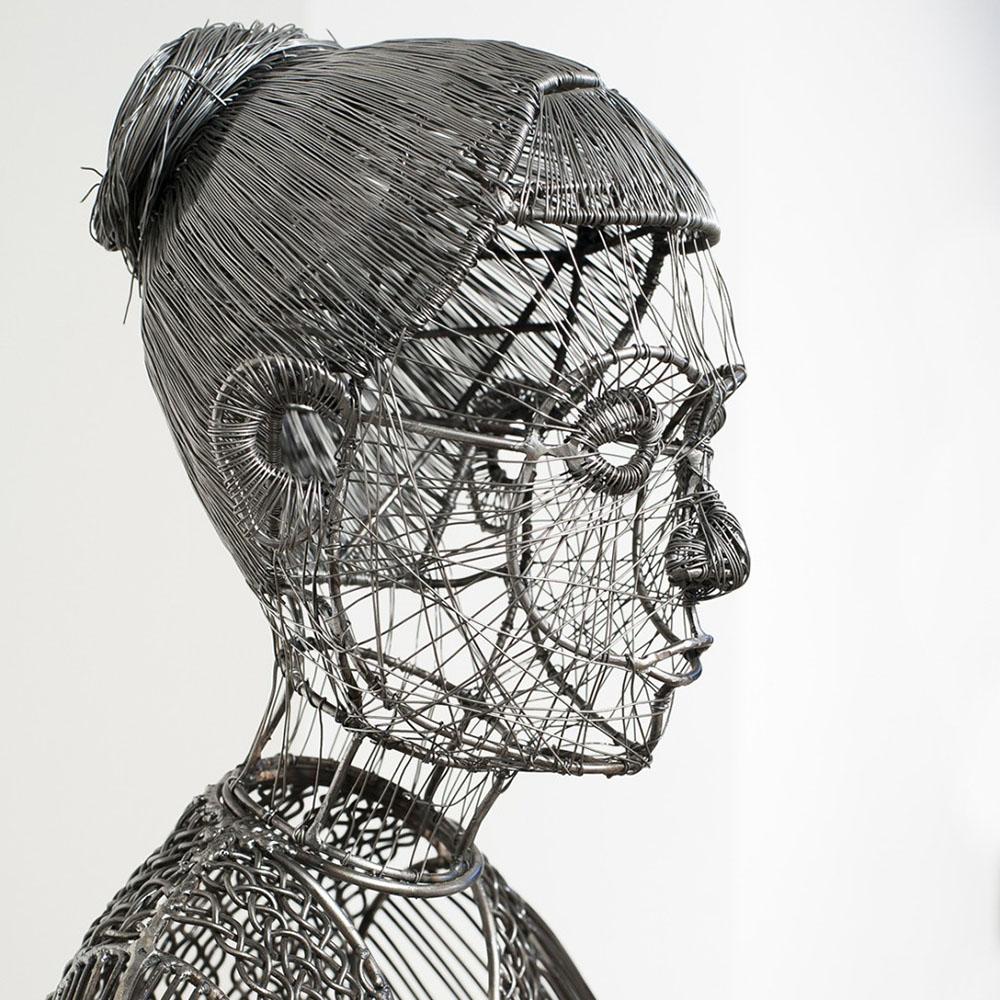 Фигуры из железной проволоки от скульптора Роберто Фанари