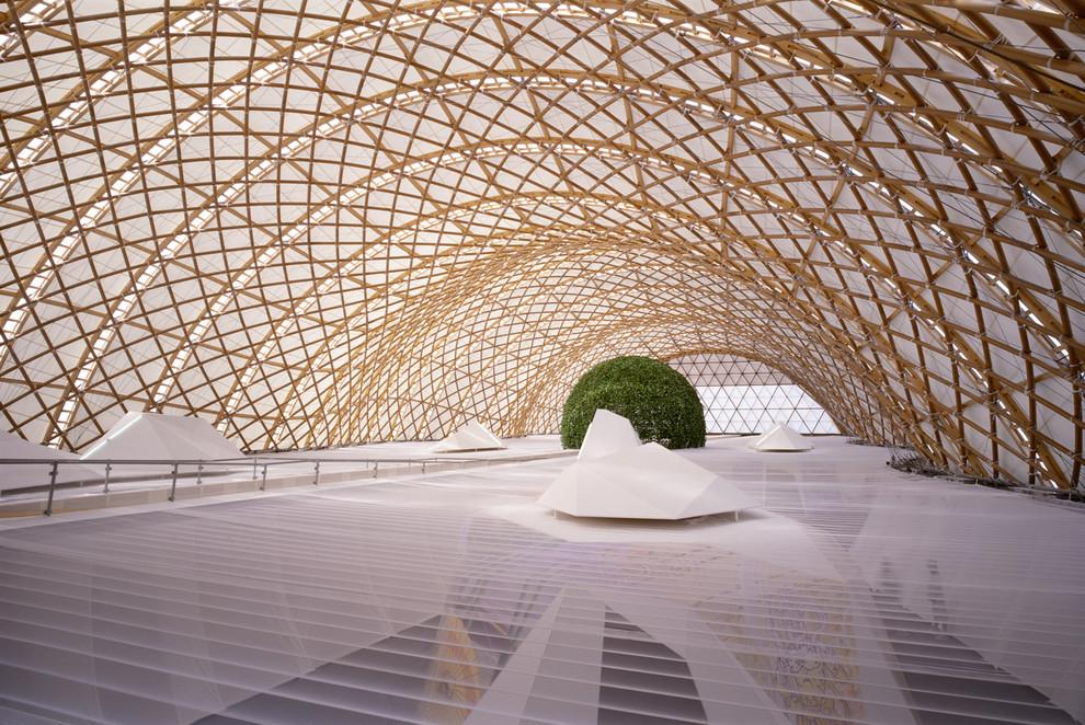 Чудесное оформление павильона выставки Expo 2000 от Frei Otto