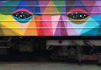Живописная раскраска вагонов от дизайнера Окуда Сан-Мигель