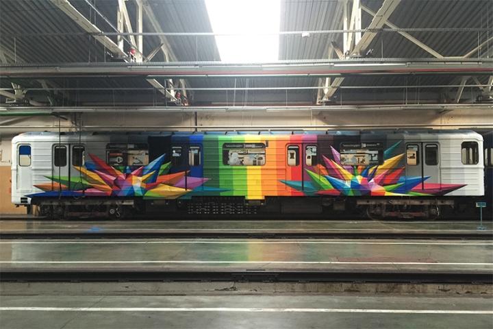 Раскраска вагонов метро в ярких цветах - Фото 5