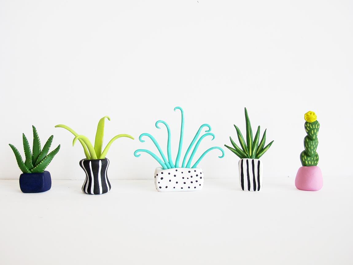 Яркие растения из полимерной глины для дома