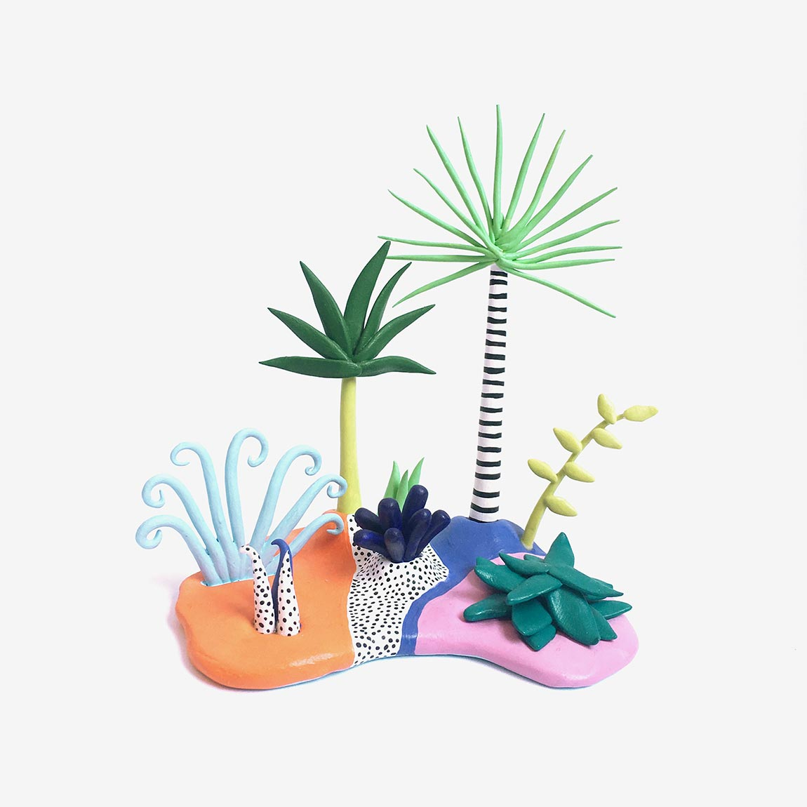 Необычные растения из полимерной глины - Фото 6