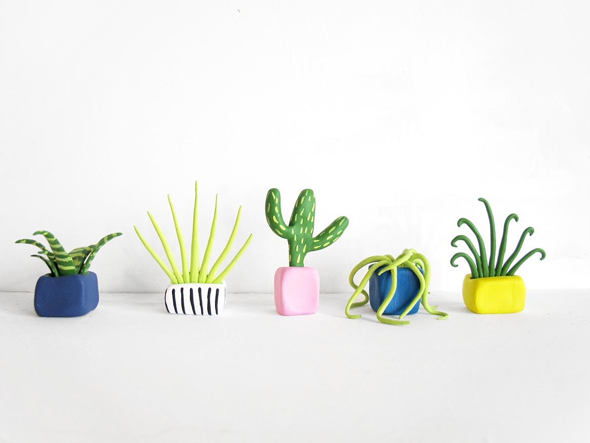 Необычные растения из полимерной глины - Фото 7