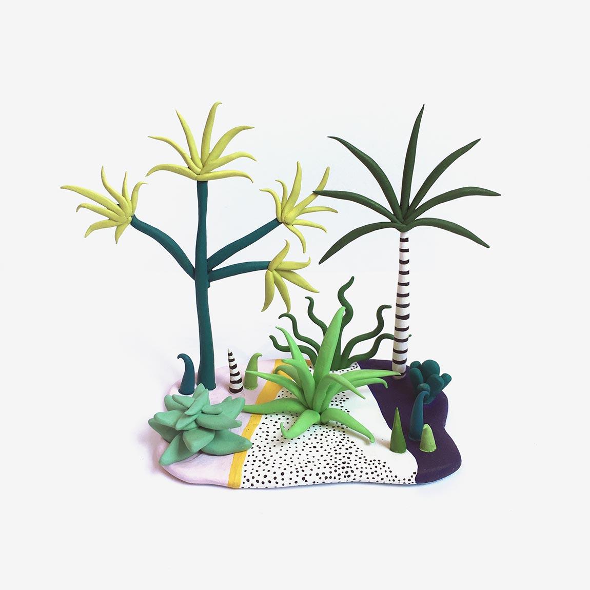 Необычные растения из полимерной глины - Фото 8